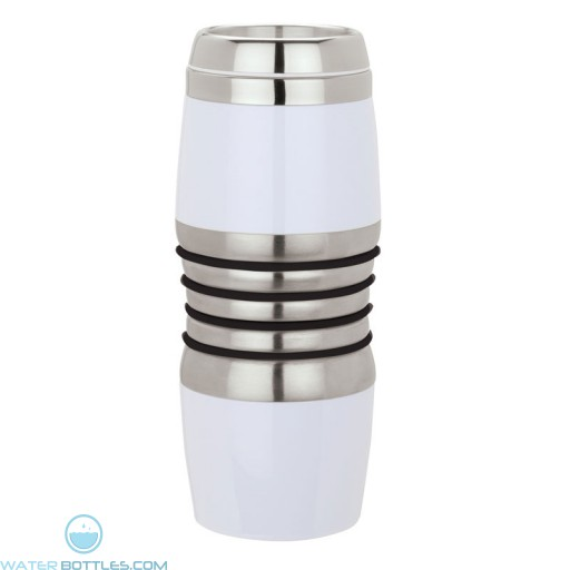 Acrylic & Steel Tumblers | 16 oz - Stainless Steel with Black Rings