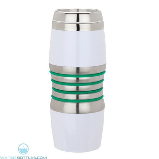 Acrylic & Steel Tumblers | 16 oz - Stainless Steel with Green Rings