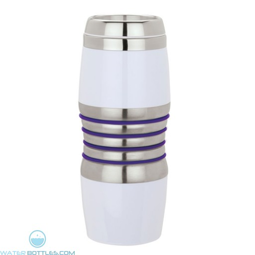 Acrylic & Steel Tumblers | 16 oz - Stainless Steel with Purple Rings