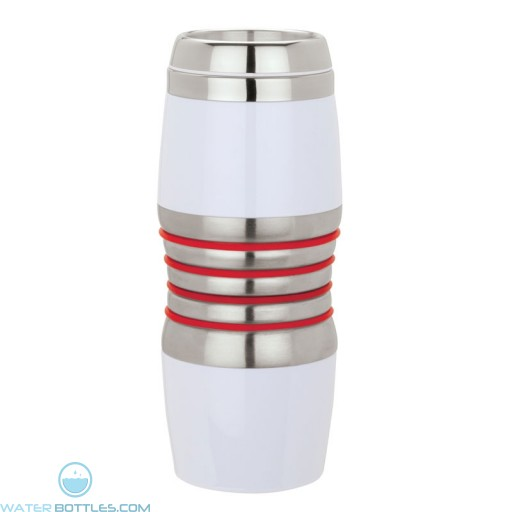 Acrylic & Steel Tumblers | 16 oz - Stainless Steel with Red Rings