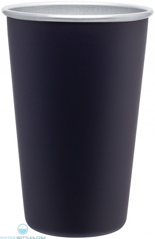 Stainless Steel Promo Pint | 16 oz - Matte Black