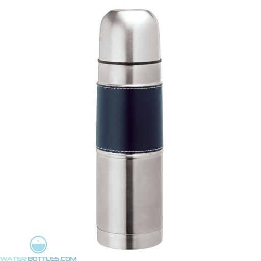 Steel Flask with Sleeve | 16.9 oz - Navy Blue