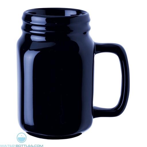 Capacity Ceramic Mugs   16 oz - Blue