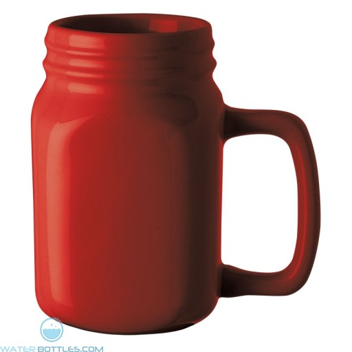 Capacity Ceramic Mugs | 16 oz - Red