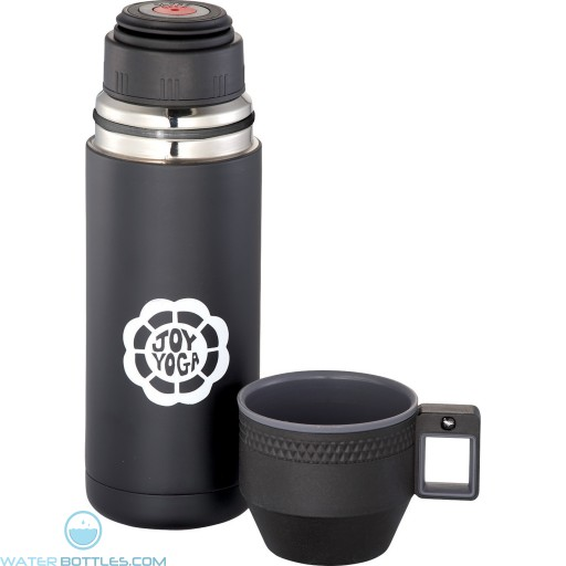 Custom Logo Water Bottles - Personalized Blackout Vacuum Bottle | 20 oz