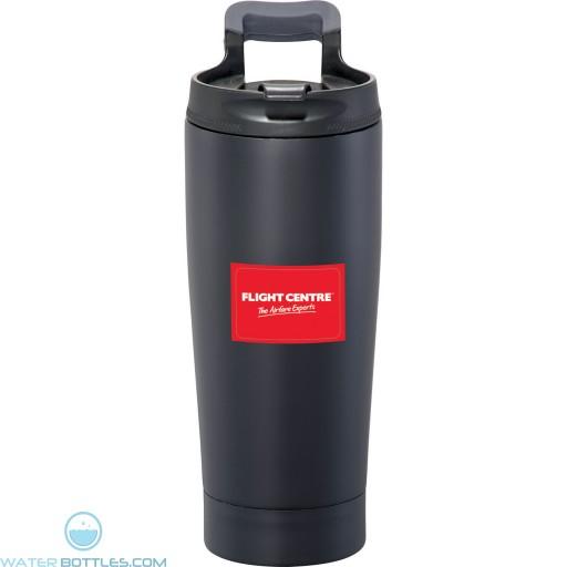 Promo Tumblers - Personalized Blackout Vacuum Tumbler   17 oz - Black