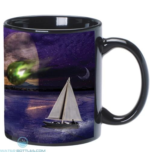 C Handle Mugs | 11 oz - Black