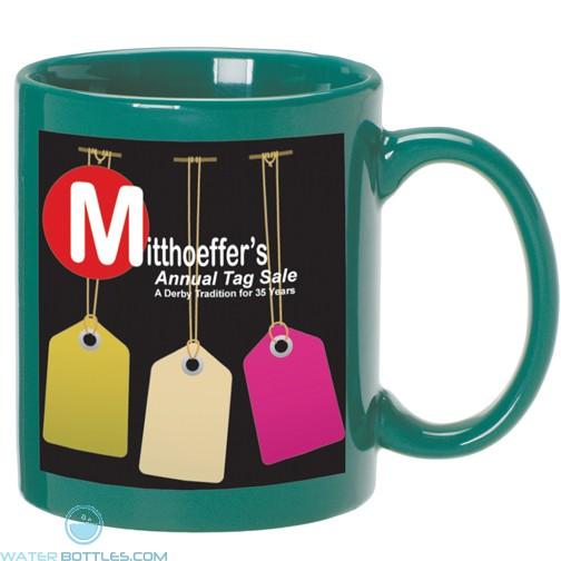 C Handle Mugs   11 oz - Green