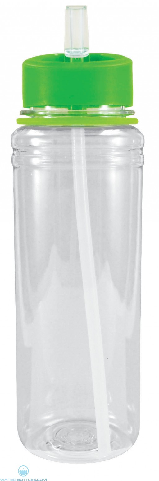 Active Sport Tritan Bottles | 26 oz - Clear with Green Lid
