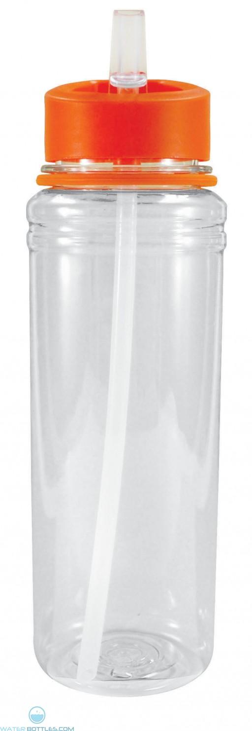 Active Sport Tritan Bottles   26 oz - Clear with Orange Lid