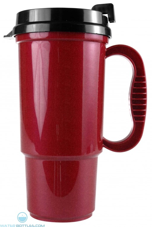 The Commuter - 16 oz. Auto Mugs-Metallic Colors-Metallic-Red