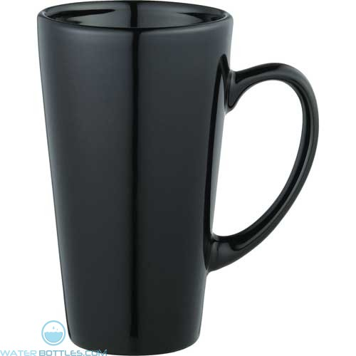 Enoteca Ceramic Mugs | 17 oz - Black