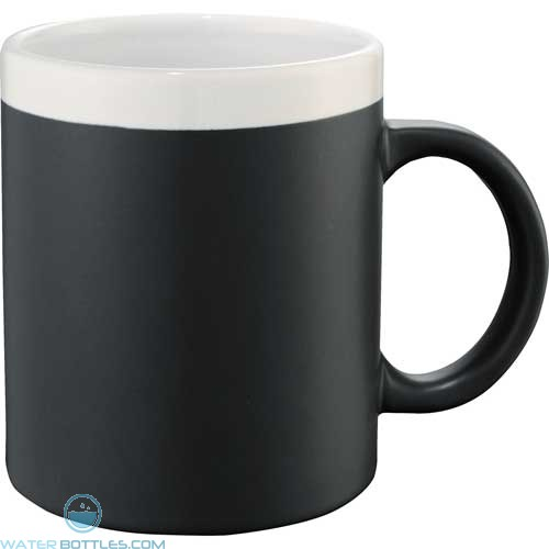 Chalk It Up Ceramic Mugs | 11 oz - Black