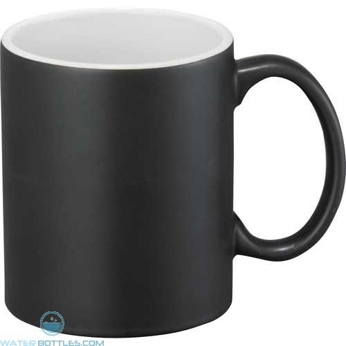 Maya Ceramic Mugs | 11 oz - Black with White Trim