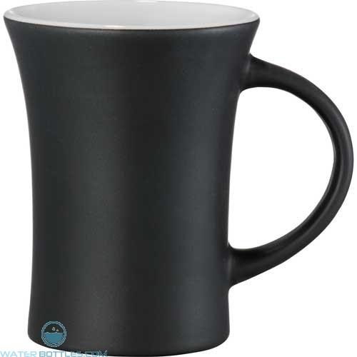 Dakota Ceramic Mugs | 10 oz - Black with White Lining