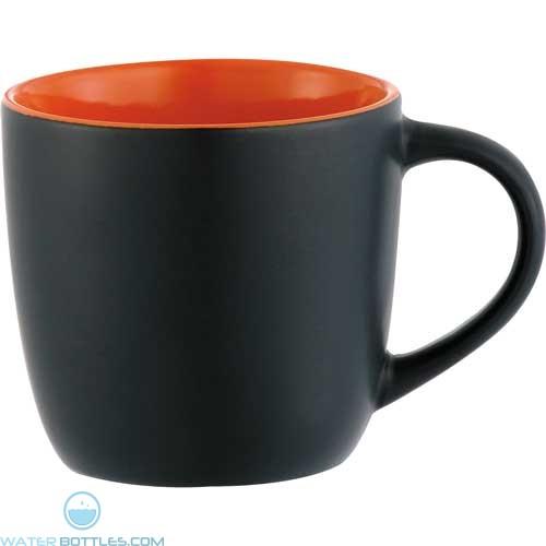 Riviera Mugs - Electric   12 oz - Black with Orange Lining