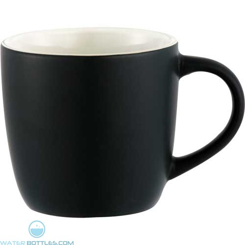 Riviera Mugs - Electric | 12 oz - Black with White Lining