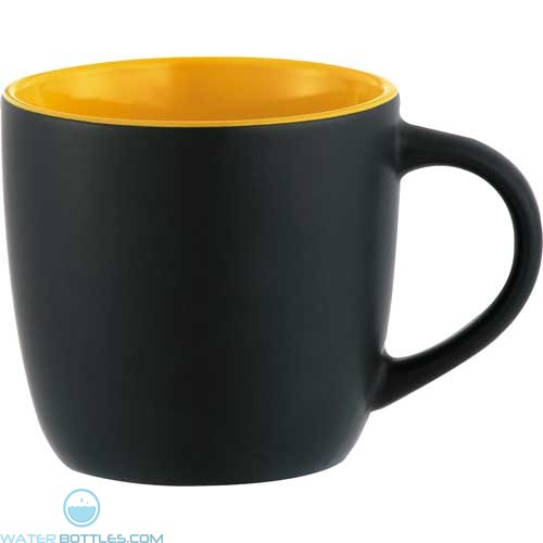 Riviera Mugs - Electric | 12 oz - Black with Yellow Lining