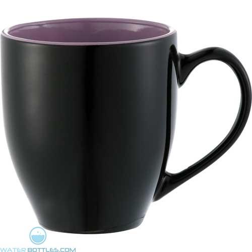 Zapata Mugs - Electric | 15 oz - Black with Purple Trim