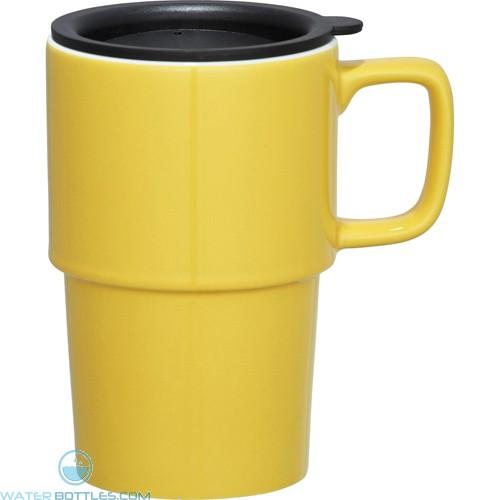 Contra Ceramic Mugs | 17 oz - Yellow