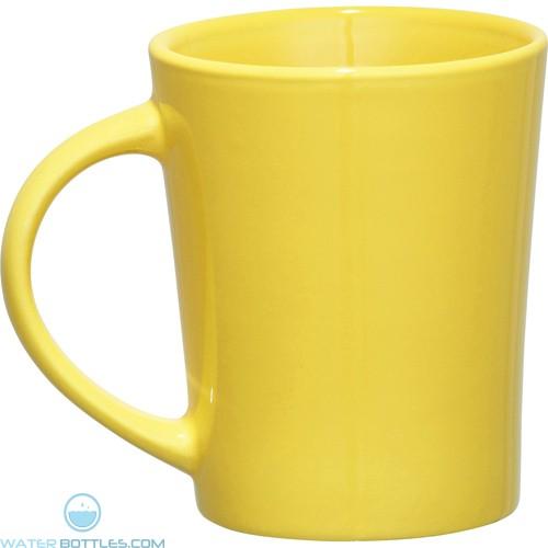 Palms Ceramic Mugs   14 oz - Yellow