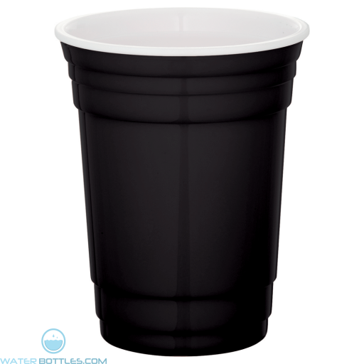 Tailgate Party Cup   16 oz - Black