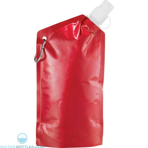 Cabo Water Bag With Carabiner | 20 oz - Metallic Red