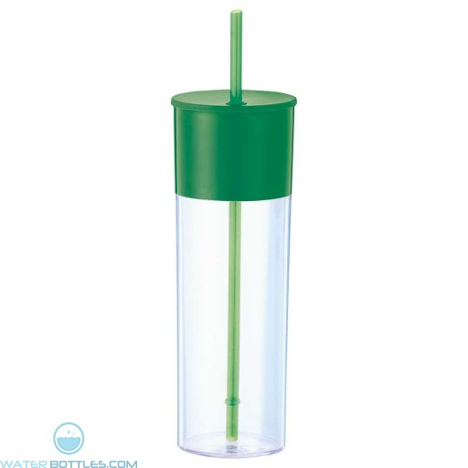 Color Band Tumblers With Straw | 22 oz - Green