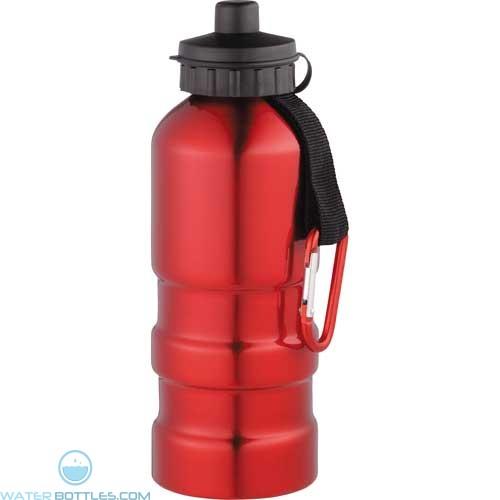 Sahara Aluminum Sports Bottles   20 oz - Red
