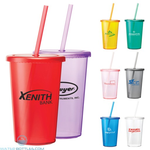 Wholesale Tumblers - Sizzle Tumbler With Straw | 16 oz