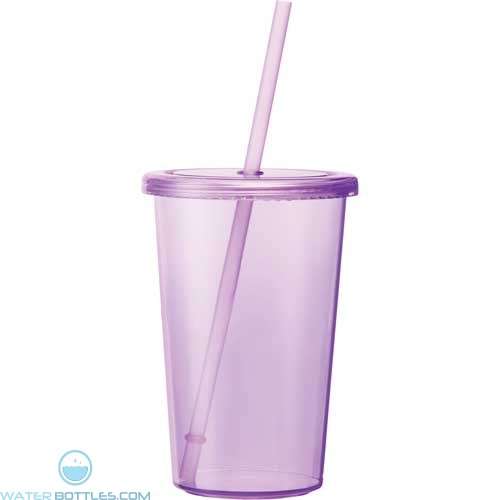 Sizzle Tumblers With Straw | 16 oz - Purple