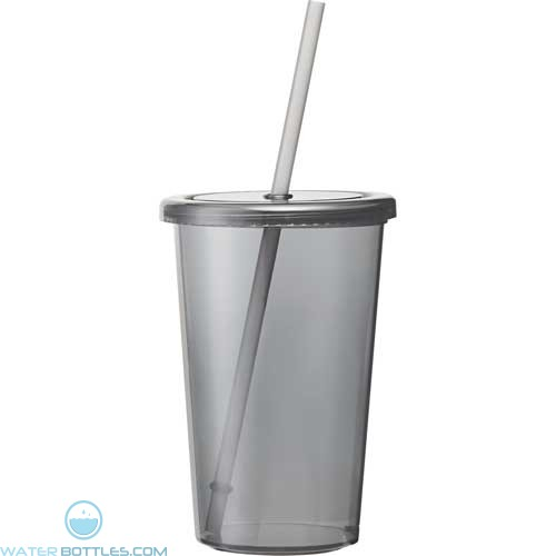 Sizzle Tumblers With Straw | 16 oz - Black