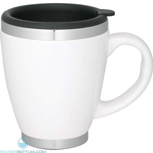 Collier Ceramic Coffee Mugs | 14 oz - White