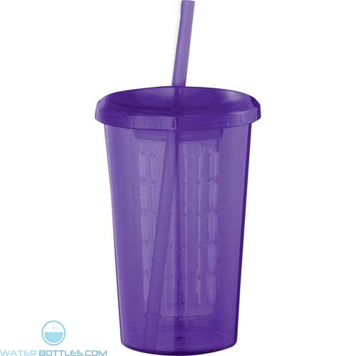 Tutti Frutti Tumblers With Straw | 20 oz - Purple