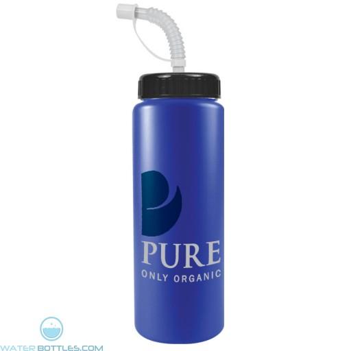 The Sports Quart - 32 oz Bottles Colors (Straw Lid)-Royal-Blue