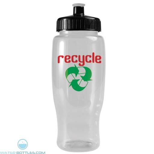 Poly-Pure - 27 oz. Transparent Bottles-White