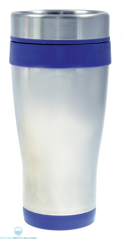 Coronado Tumblers | 16 oz - Silver with Blue Liner