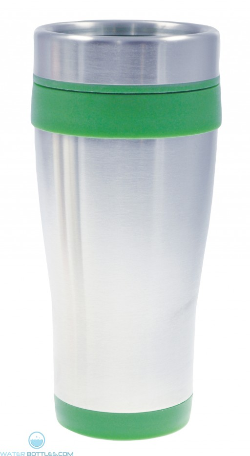 Coronado Tumblers | 16 oz - Silver with Green Liner