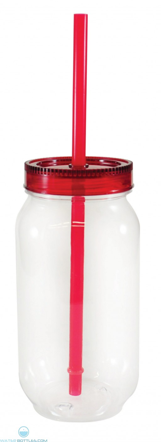 Dixie Jar | 28 oz - Clear with Red Lid