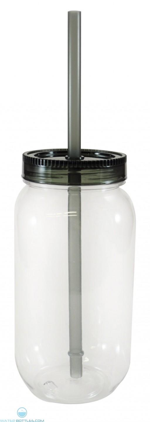 Dixie Jar   28 oz - Clear with Smoke Lid