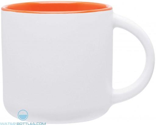 Minolo Mugs - Matte White | 14 oz - Orange