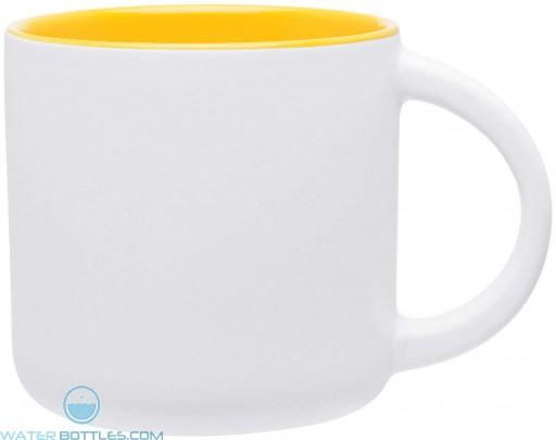 Minolo Mugs - Matte White | 14 oz - Yellow