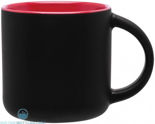 Minolo Mugs - Matte Black   14 oz - Red