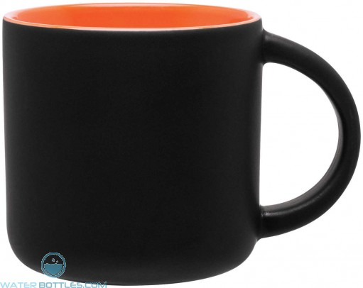 Minolo Mugs - Matte Black | 14 oz - Orange