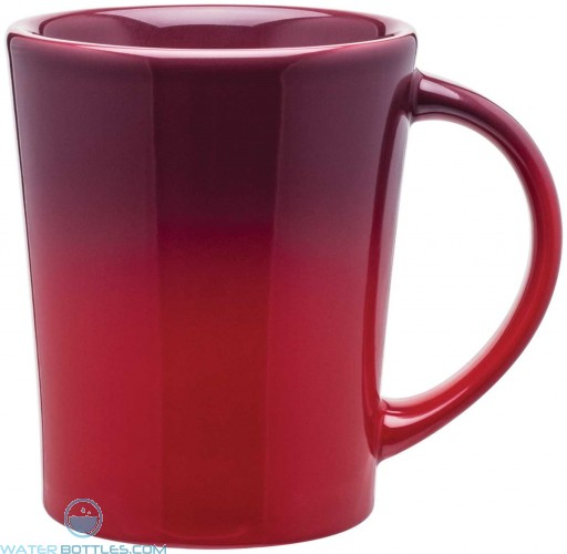 Emma Ombre Ceramic Mugs   14 oz - Red