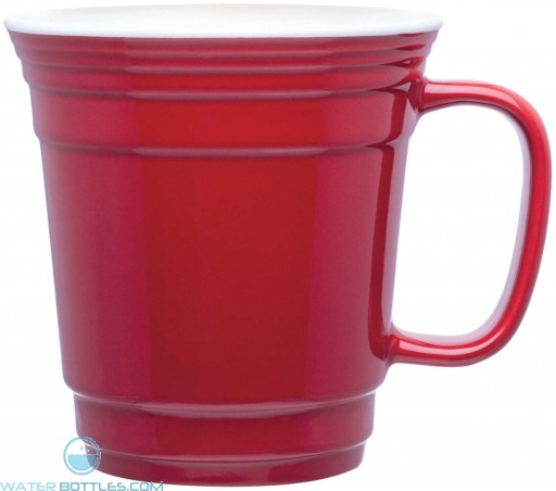 Single Wall Ceramic Mugs   12 oz - Red