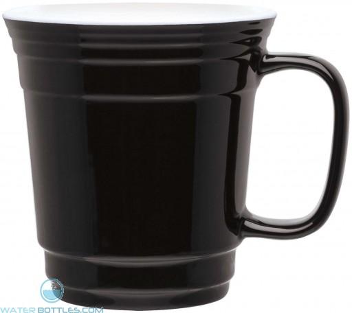 Single Wall Ceramic Mugs   12 oz - Black