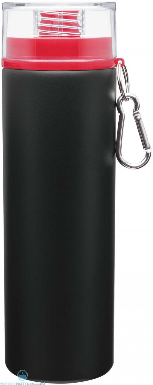 H2Go Trek Aluminum Water Bottles - Matte Black | 28 oz - Red