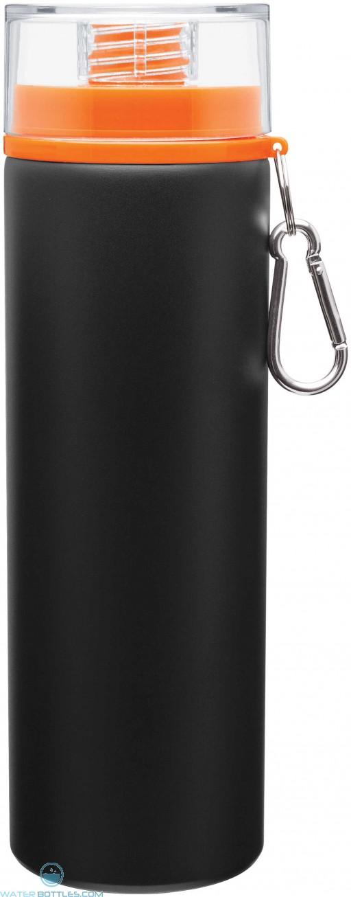 H2Go Trek Aluminum Water Bottles - Matte Black   28 oz - Orange