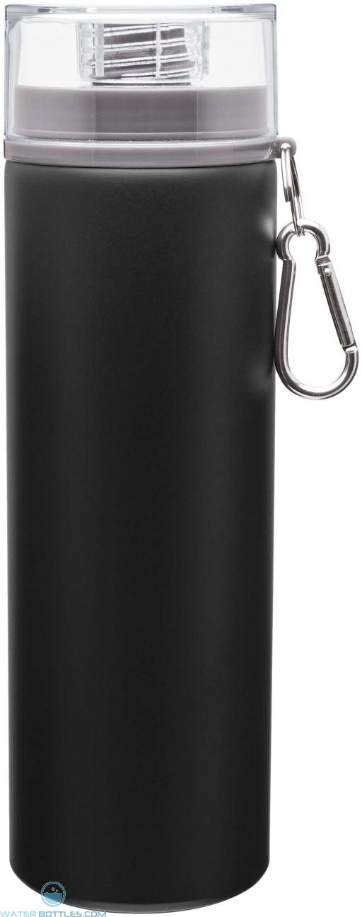 H2Go Trek Aluminum Water Bottles - Matte Black | 28 oz - Storm Gray
